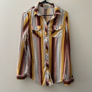 Striped Button Down Long Sleeve
